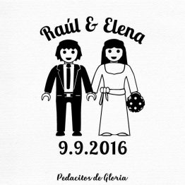 Sello de boda Playmobil